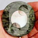 Large Vintage Plastic button With M..
