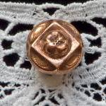 Small Rare Victorian Copper Button ..