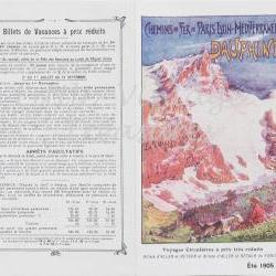 "French Magazine Supplement from "" Mode Pratique "" 1905 - Railway Journey Paris to Lyon - Chemin de Fer"