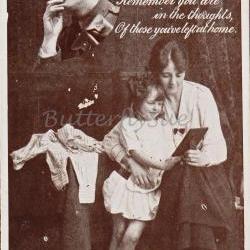 WW1 Sentimental Printed Postcard entitled FondThoughts